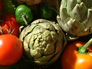 アーティチョークと野菜